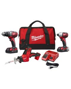Milwaukee M18 - Drill/Impact Driver Kit w/2 Batteries & Multi Volt Charger