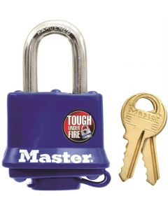 ML - Padlock - Blue Thermo Cover w/Snap Cap - 4-Pin Dual Lock 3/8 Shackle - 1ct