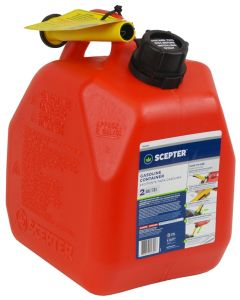 Gas Can with Spout - Plastic - 2 Gallon/7.6L