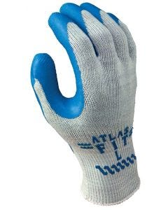 Atlas Gloves - Fit Style - Gray w/Blue Coating - #300 - XLarge