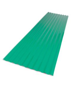 """Palruf - PVC Roofing - Corrugated - Green - 26""""x 8'"""