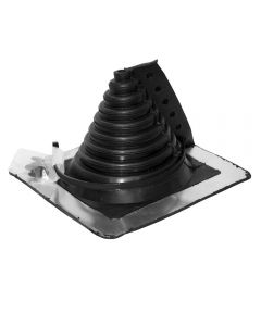 """Pipe Flashing - Master Flash Retro Fit - EPDM Rubber - 1/2"""" to 4"""" Pipe - 8"""" x 8"""""""