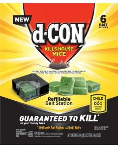 d-Con - Mouse Bait - Ready-to-Use Refillable Station - 6 Refills