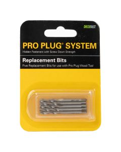 Pro Plug Tool - Wood Replacement Bits - 5ct