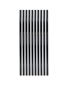 """Fortress - FE26 - Balusters - Vintage Round - Plain - .75""""x26"""" - Gloss Black - 10ct"""