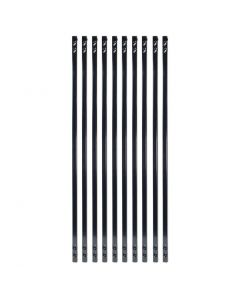 """Fortress - FE26 - Balusters - Vintage Square - Plain - .625""""x31"""" - Gloss Black - 10ct"""