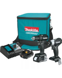 """Makita - CX200RB - Compact Impact Driver & 1/2"""" Driver-Drill Combo Kit - w/2 Batteries & Charger - 18V/2.0Ah"""