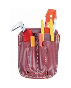 CLC - Signature Elite - HD Leather Electrical/Maintenance Tool Caddy - 5 Pocket - #21503
