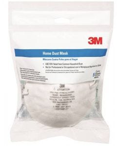 3M - Dust Mask - Household Dust .3 to 10 Microns - 5ct (Not OSHA approved)