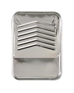 """9"""" Bright Metal Paint Tray"""