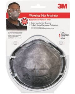3M - Respirator Mask - Carbon Layer Odor Reduction - Disposable - 1ct