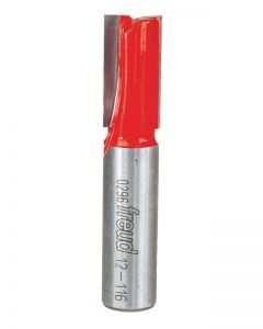 """Freud - Router Bit - 12-116 - 1/2"""" Shank - Double Flute Straight - 1/2"""" Diameter By 1"""""""